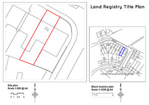 Land registry title plan in Bristol